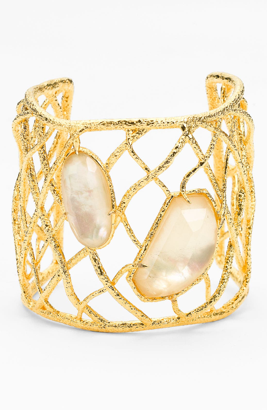 Alternate Image 1 Selected - Alexis Bittar 'Elements' Woven 2-Stone Cuff