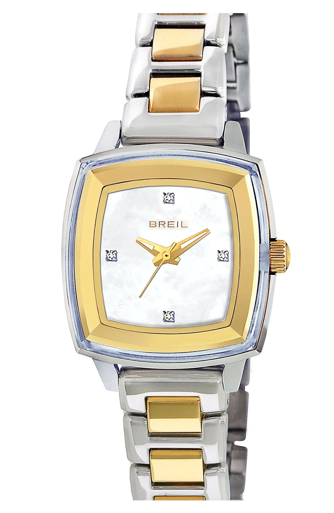 Alternate Image 1 Selected - Breil 'Orchestra' Square Case Bracelet Watch, 29mm x 36mm