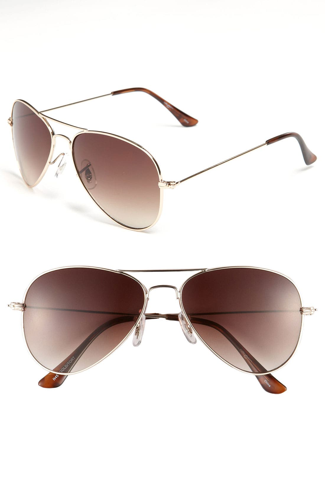Main Image - Halogen® Aviator Sunglasses