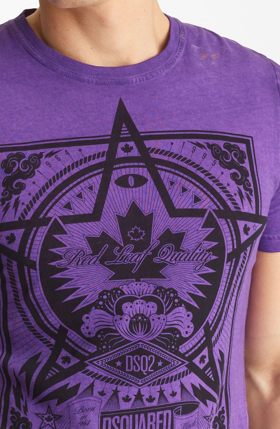 Alternate Image 3  - Dsquared2 'Squared Star' Graphic Crewneck T-Shirt