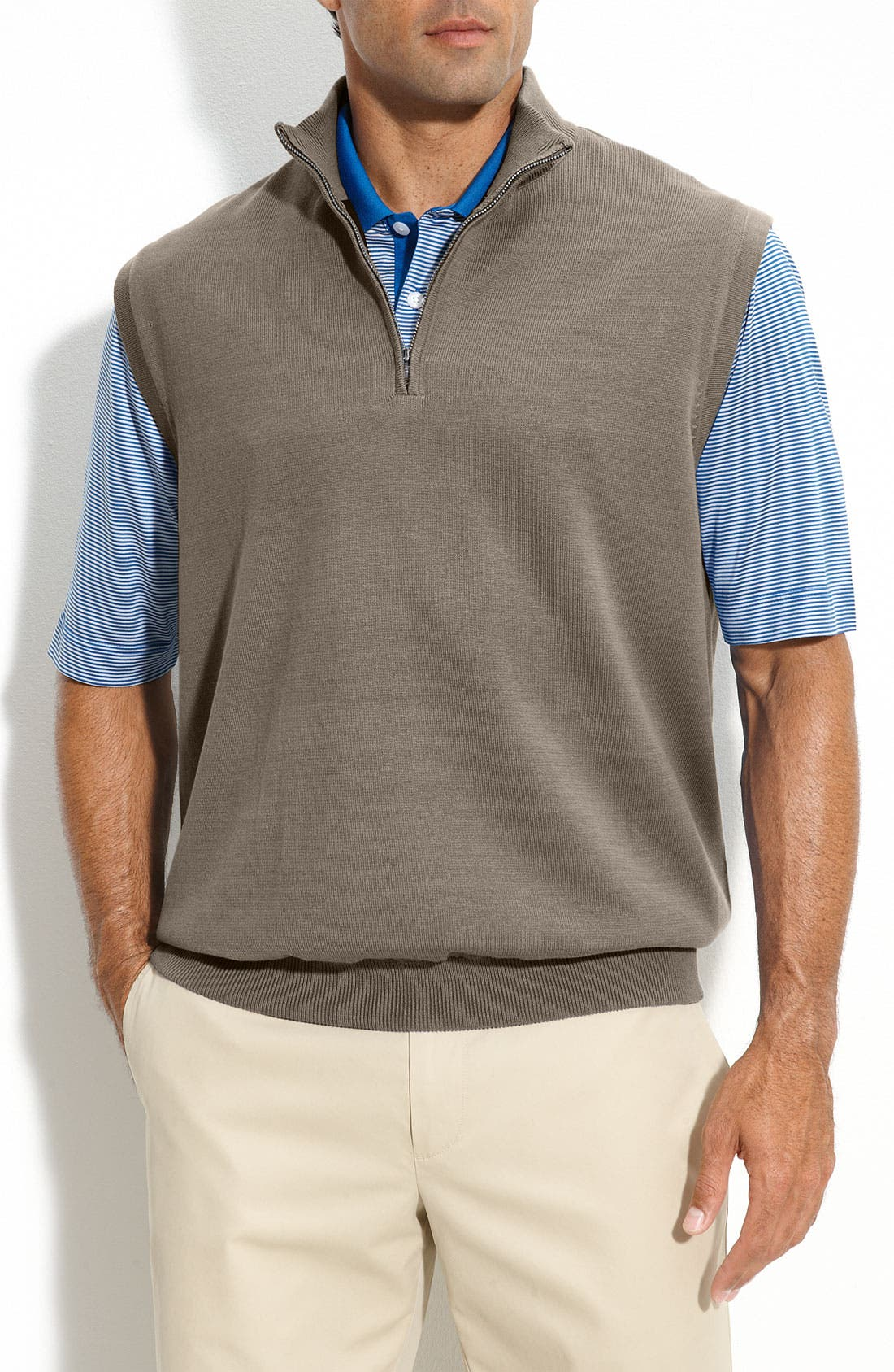 Alternate Image 1 Selected - Cutter & Buck 'Sandpoint' Half Zip Golf Vest