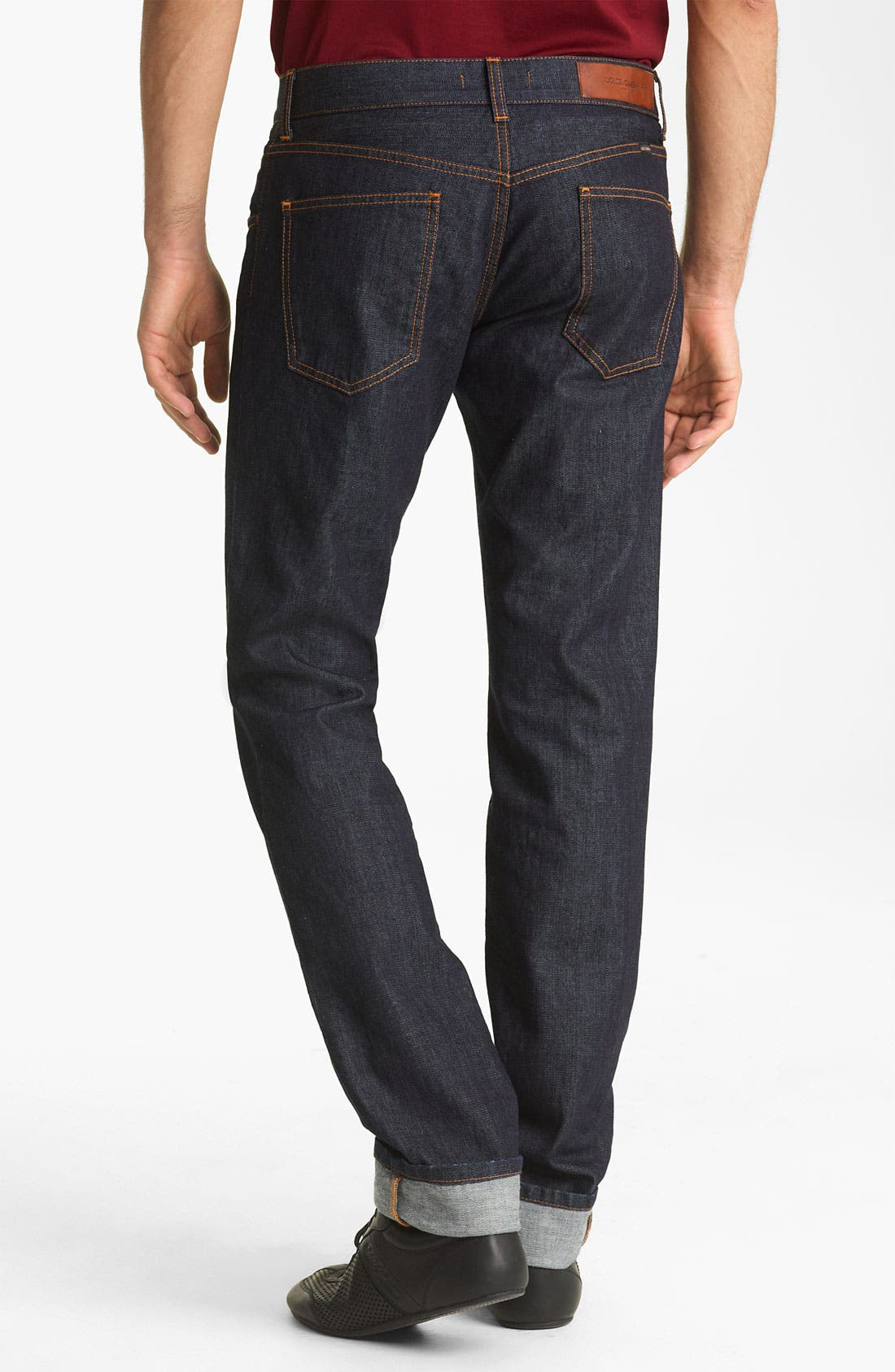 Alternate Image 1 Selected - Dolce&Gabbana Slim Straight Leg Jeans (Medium Grey Wash)