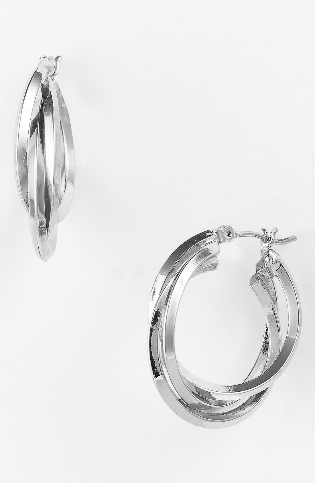 Alternate Image 1 Selected - Anne Klein Triple Split Hoop Earrings
