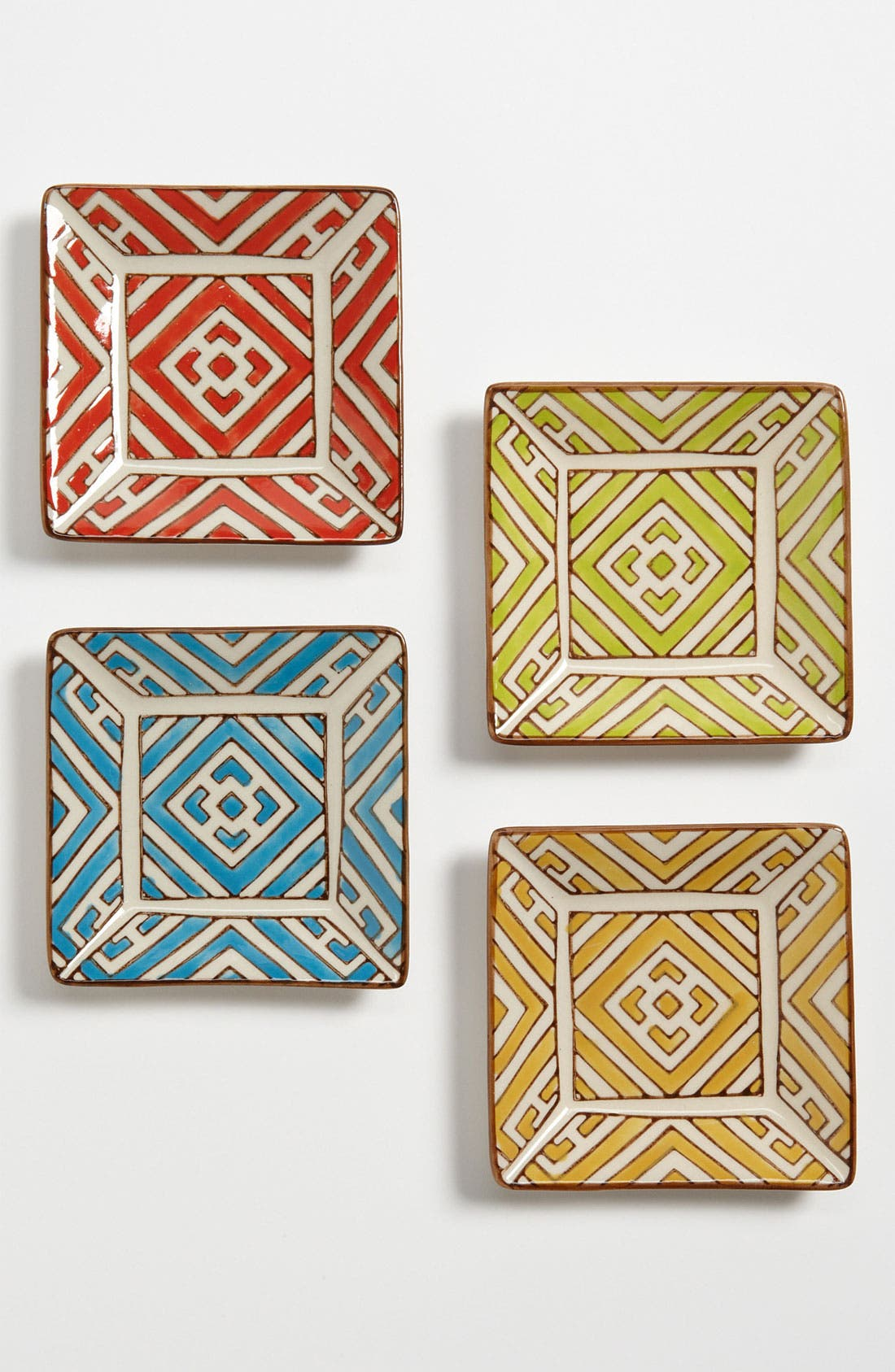 Main Image - Hand-Painted 'Moroccan' Appetizer Plates (Set of 4)
