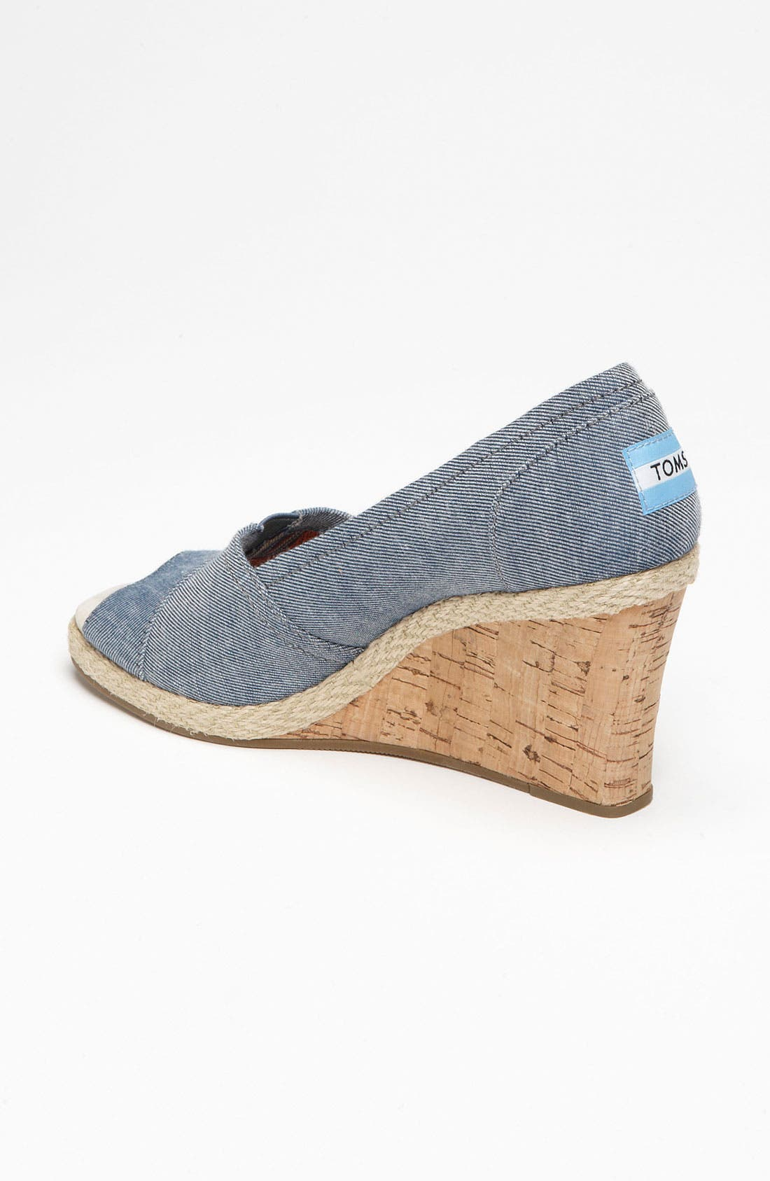 Alternate Image 2  - TOMS 'Seren' Chambray Wedge (Women)
