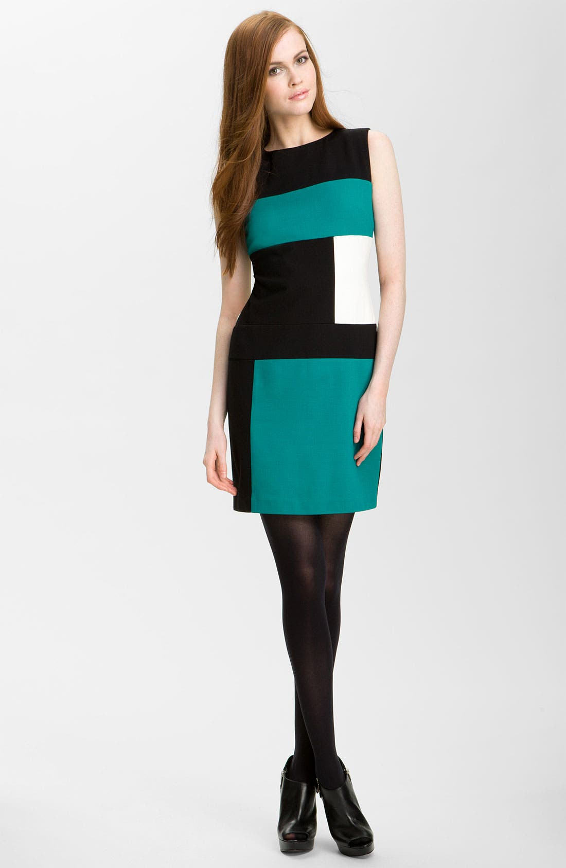 Alternate Image 1 Selected - Vince Camuto Sleeveless Colorblock Dress