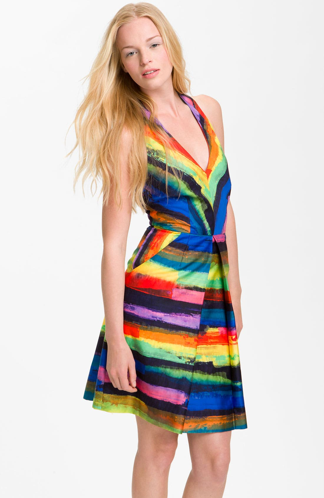 Alternate Image 1 Selected - Milly 'Phoebe' Print Halter Dress