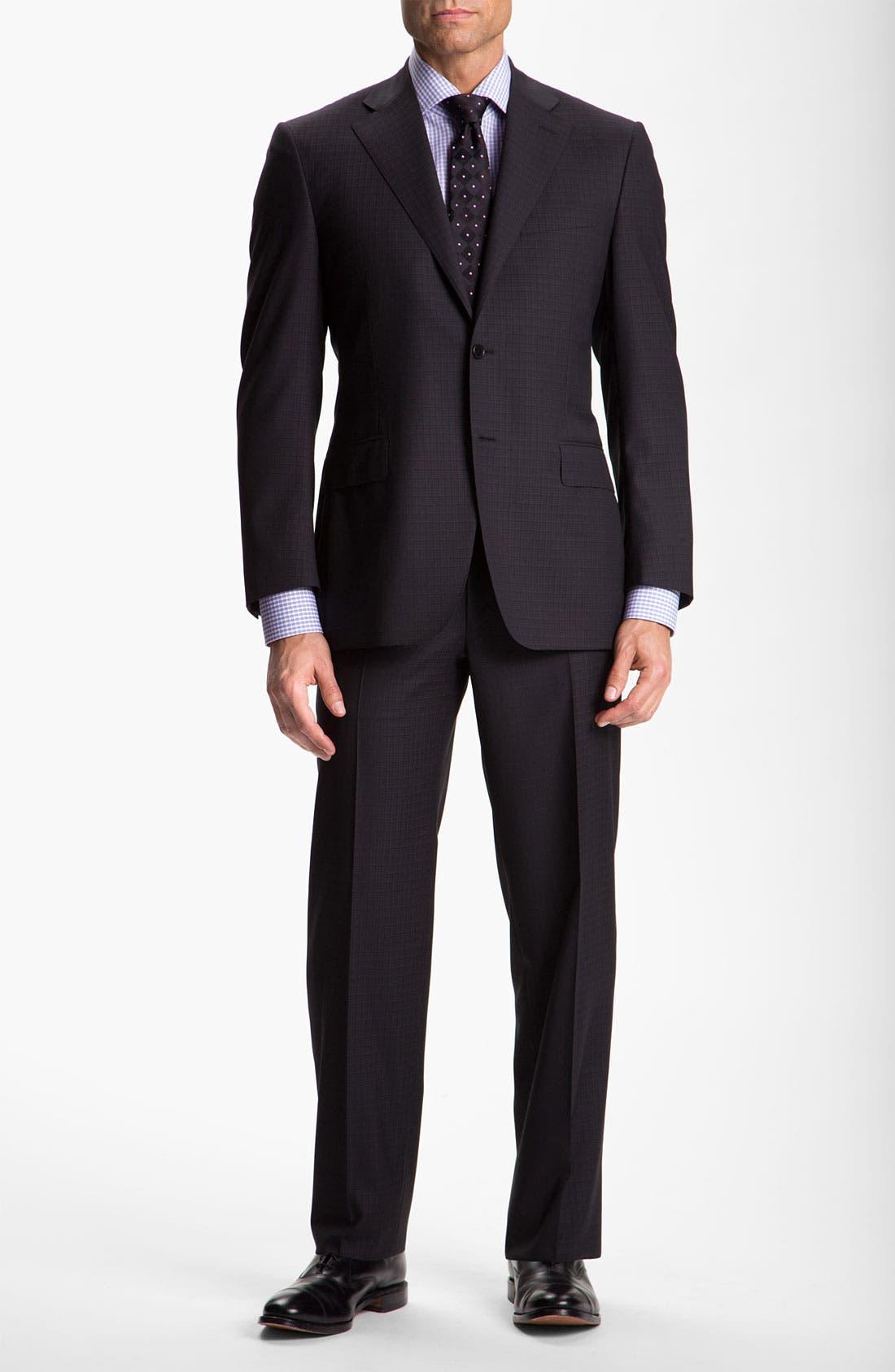 Alternate Image 2  - Canali Windowpane Wool Suit