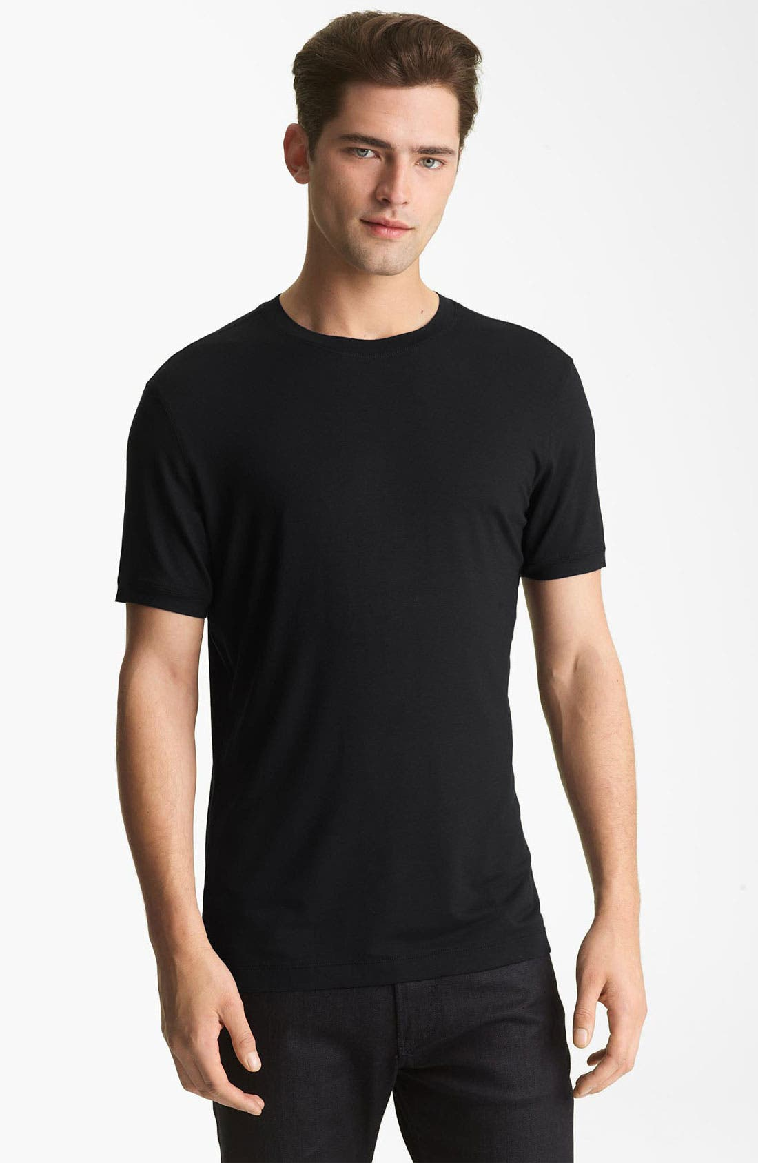 Alternate Image 1 Selected - Armani Collezioni Jersey Trim Fit T-Shirt