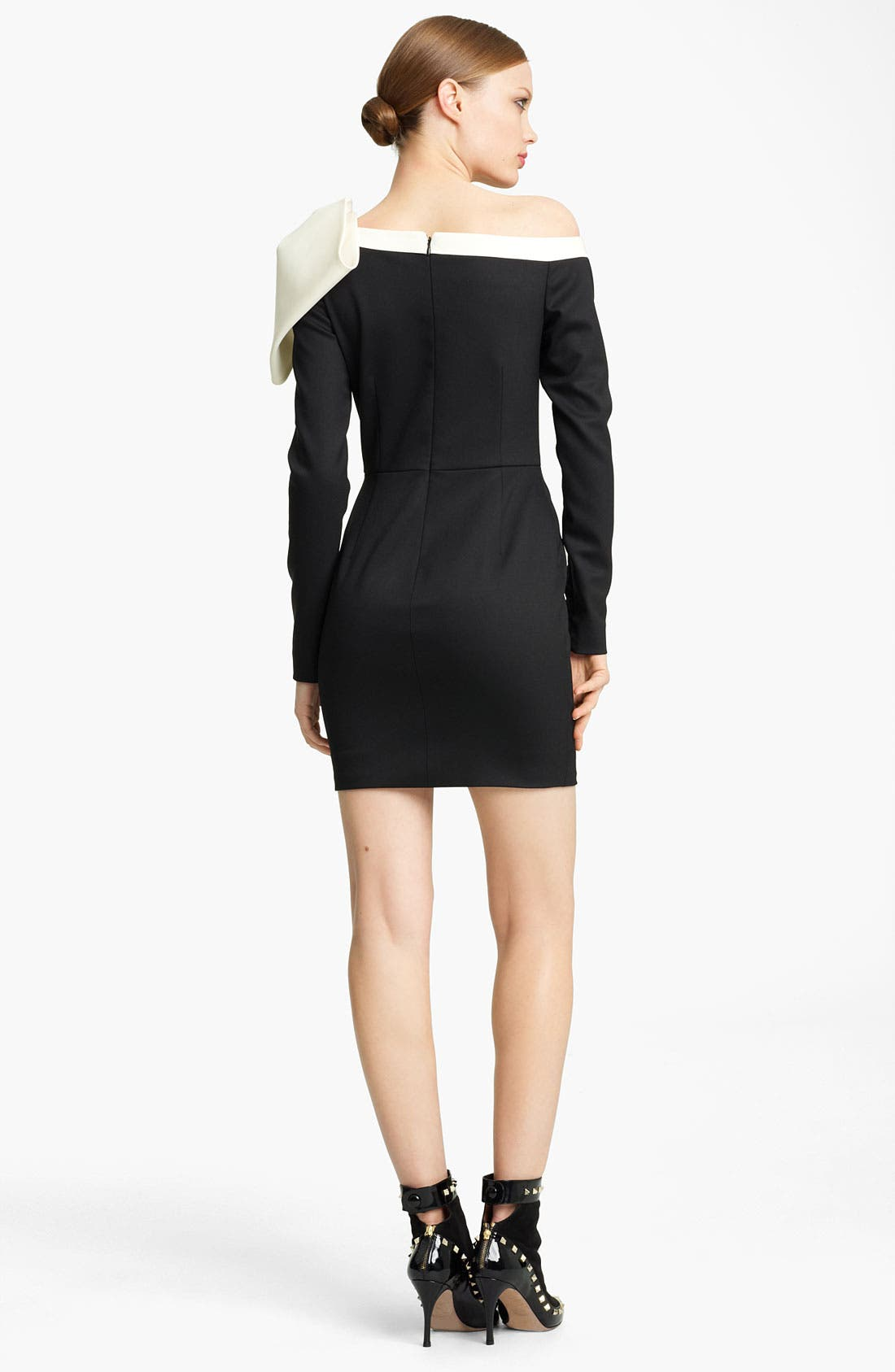 Alternate Image 2  - Valentino Side Bow Techno Stretch Wool Dress