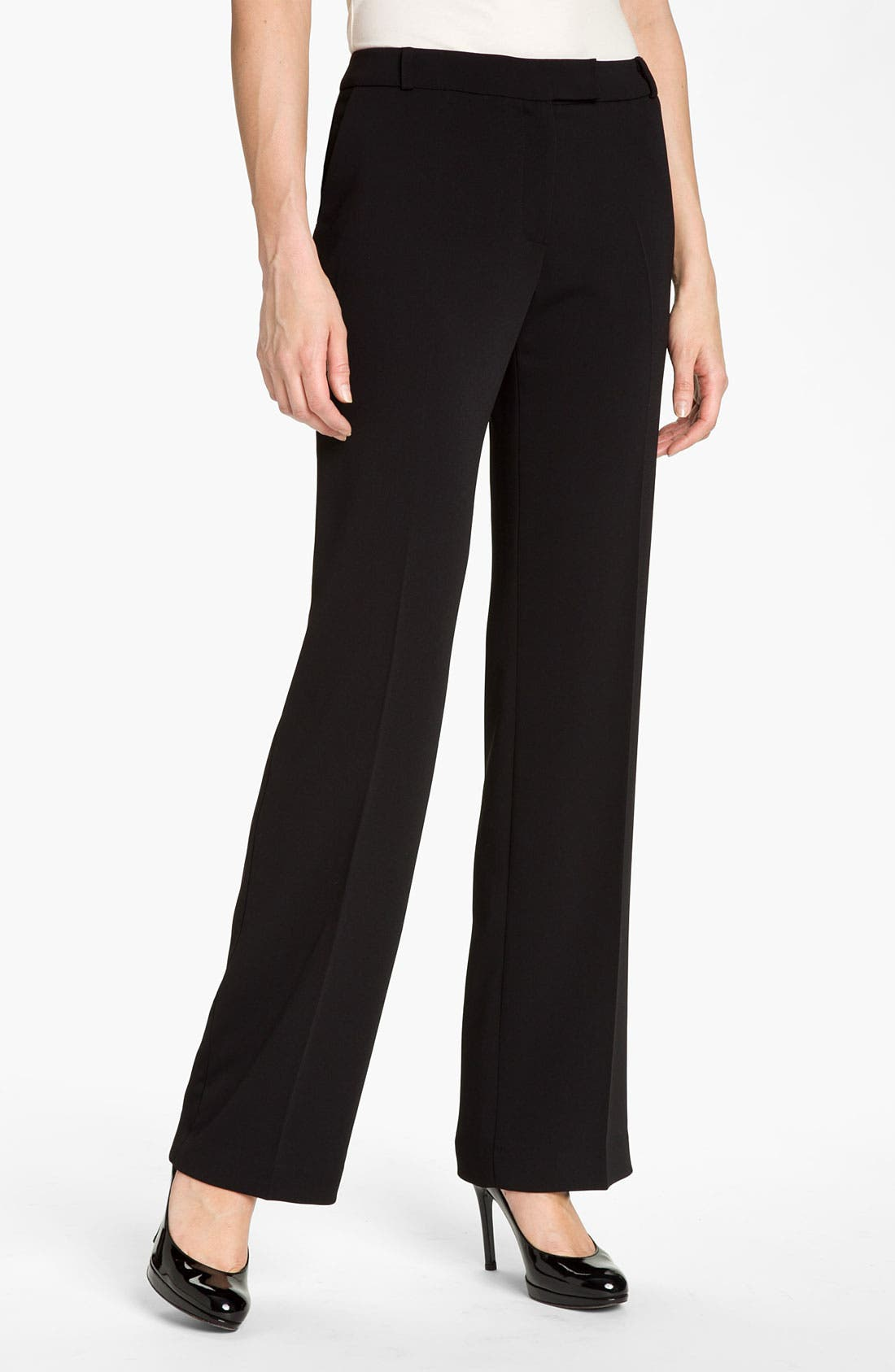 Alternate Image 1 Selected - JS Collections Straight Leg Stretch Trousers