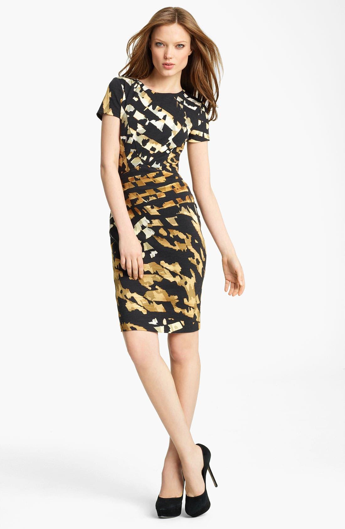Main Image - Blumarine Animal Print Jersey Dress
