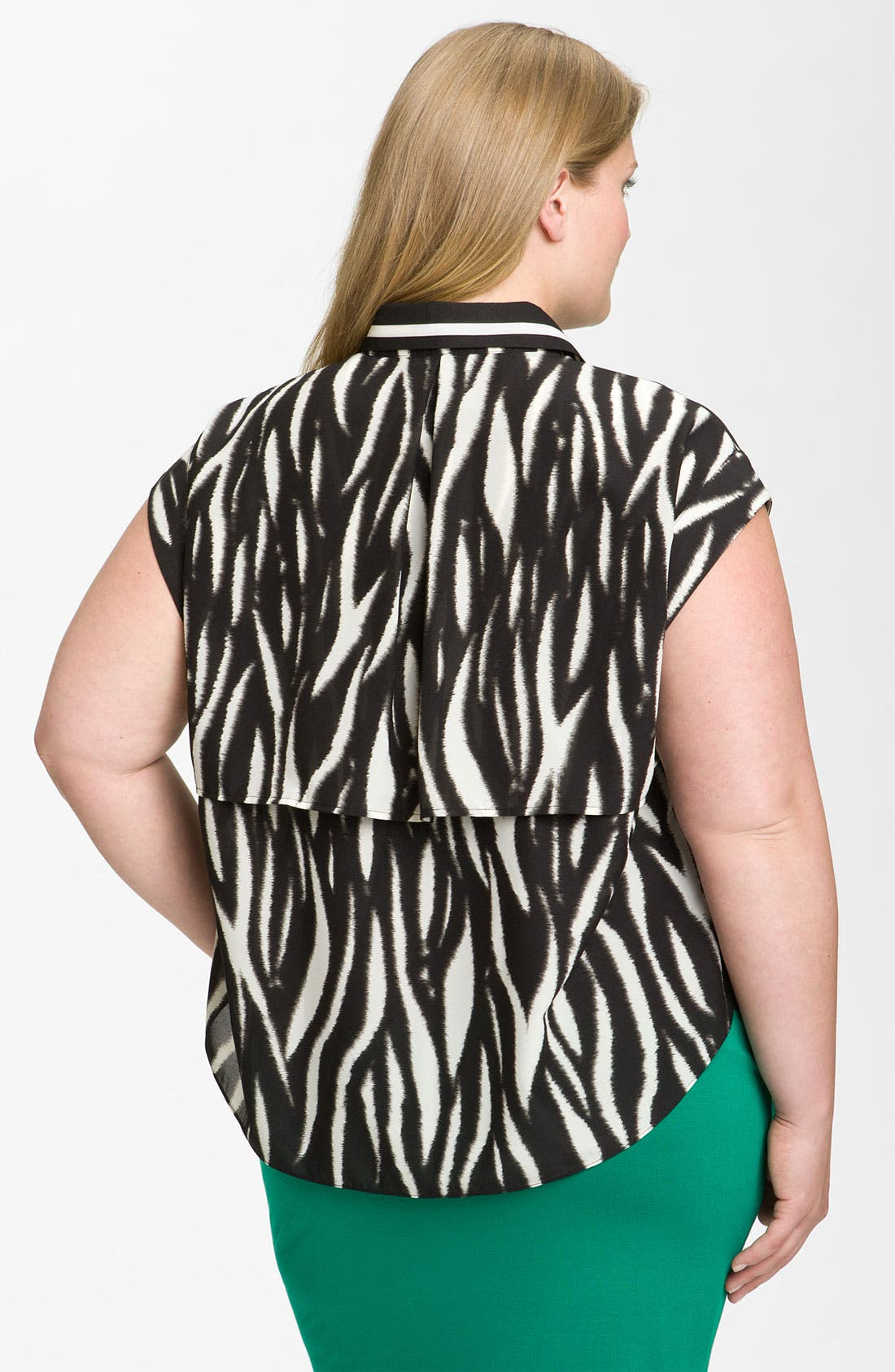 Alternate Image 2  - Vince Camuto 'Ikat Tiger' Blouse (Plus)