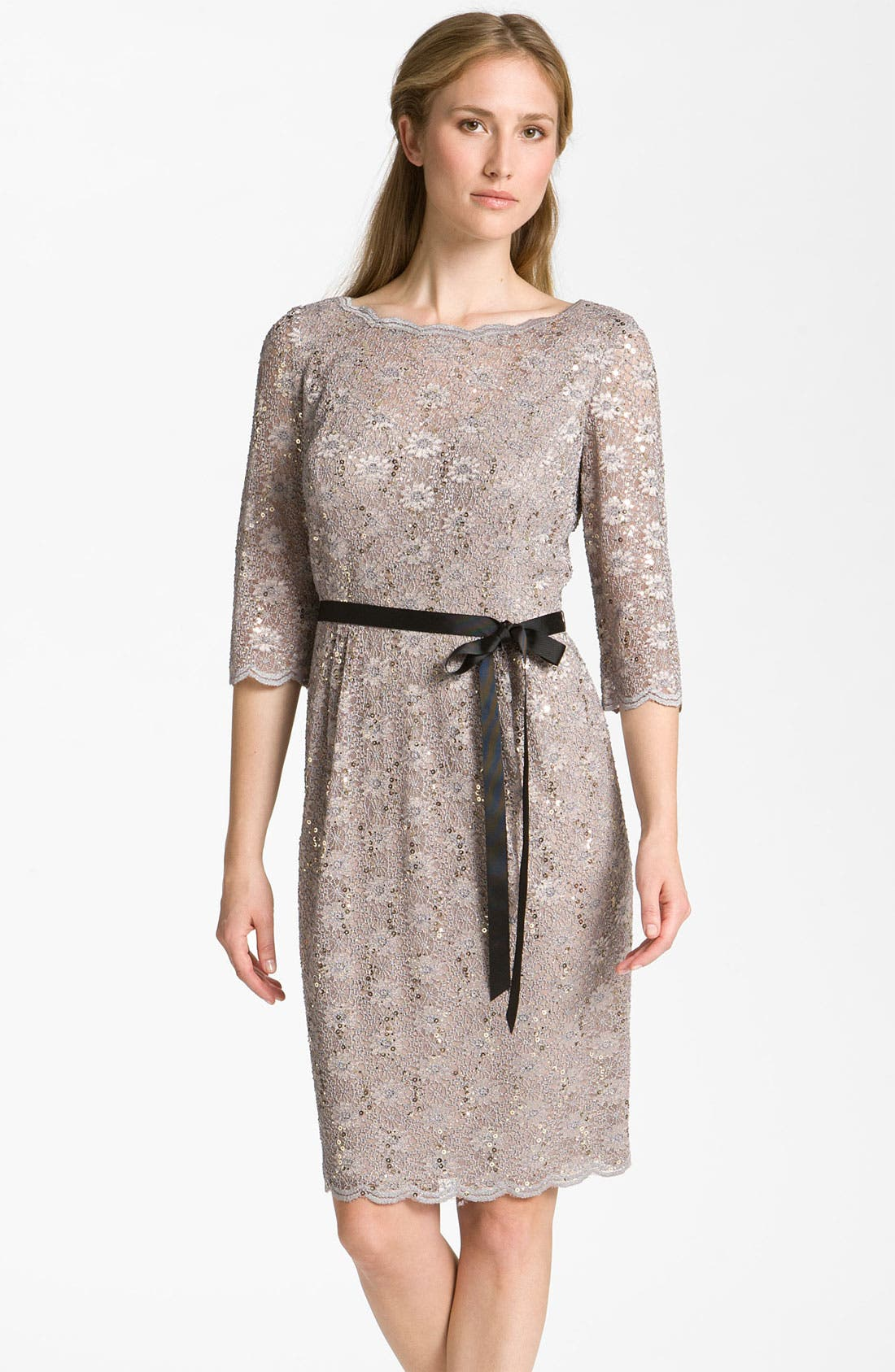 Alternate Image 1 Selected - Alex Evenings Embellished Lace Overlay Dress