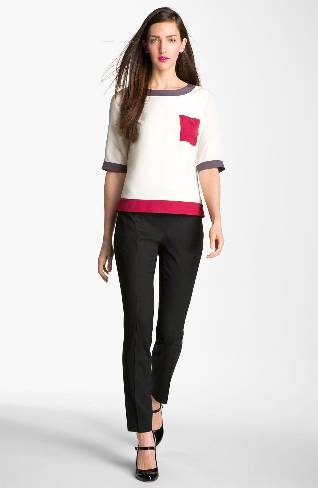 Alternate Image 4  - Ted Baker London Colorblock Woven Tee