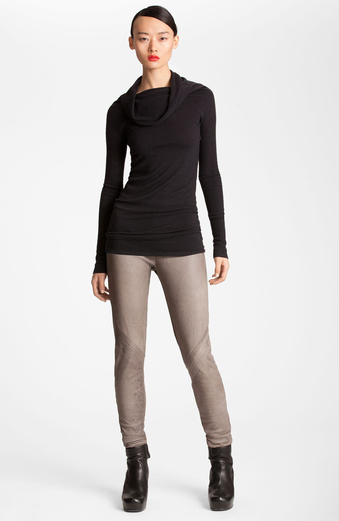 Alternate Image 1 Selected - Rick Owens Cowl Neck Merino Wool Tunic
