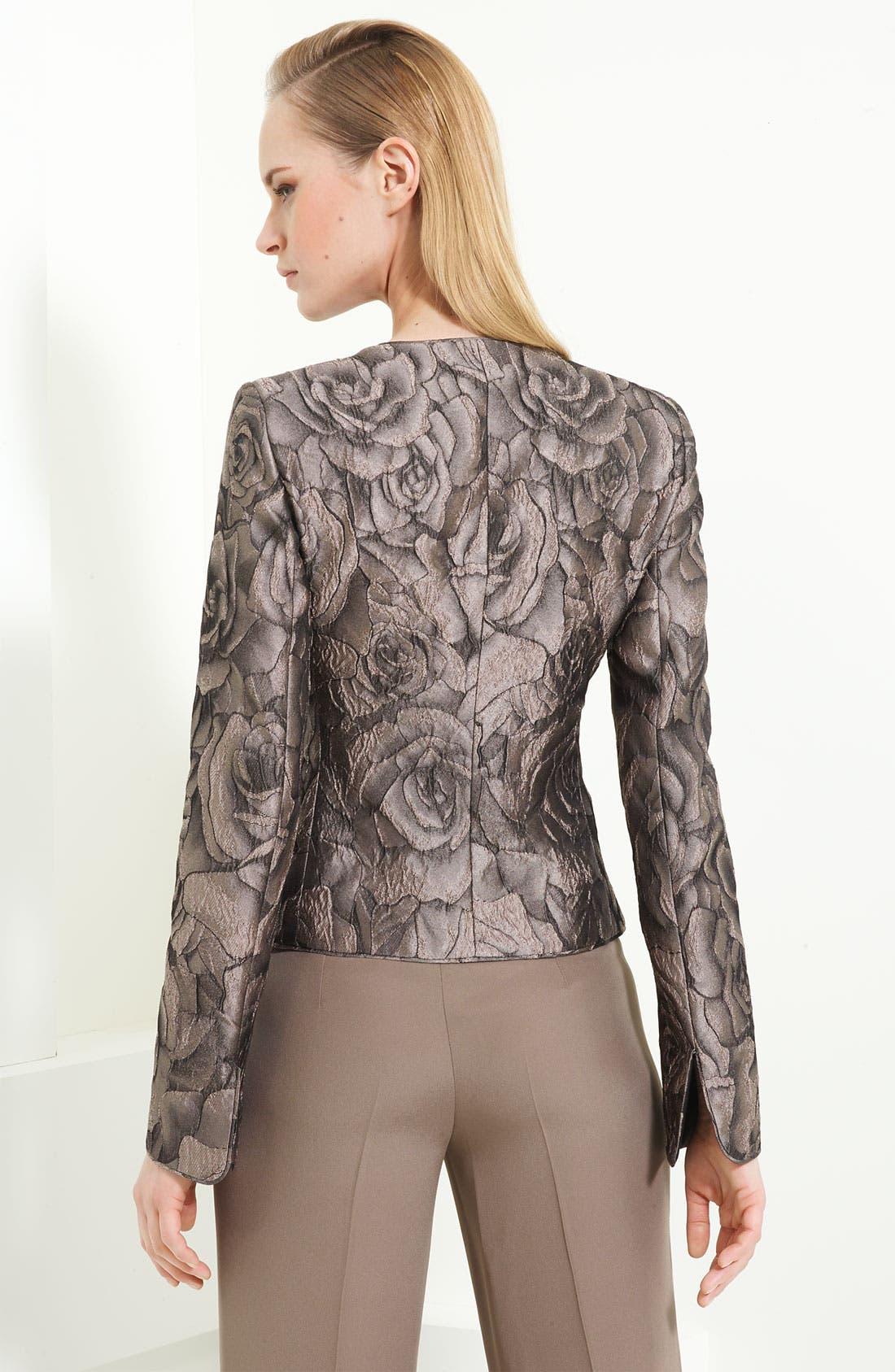 Alternate Image 2  - Armani Collezioni Floral Jacquard Jacket