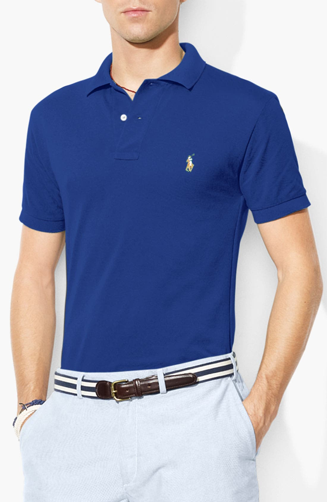 Main Image - Polo Ralph Lauren Mesh Knit Classic Fit Polo