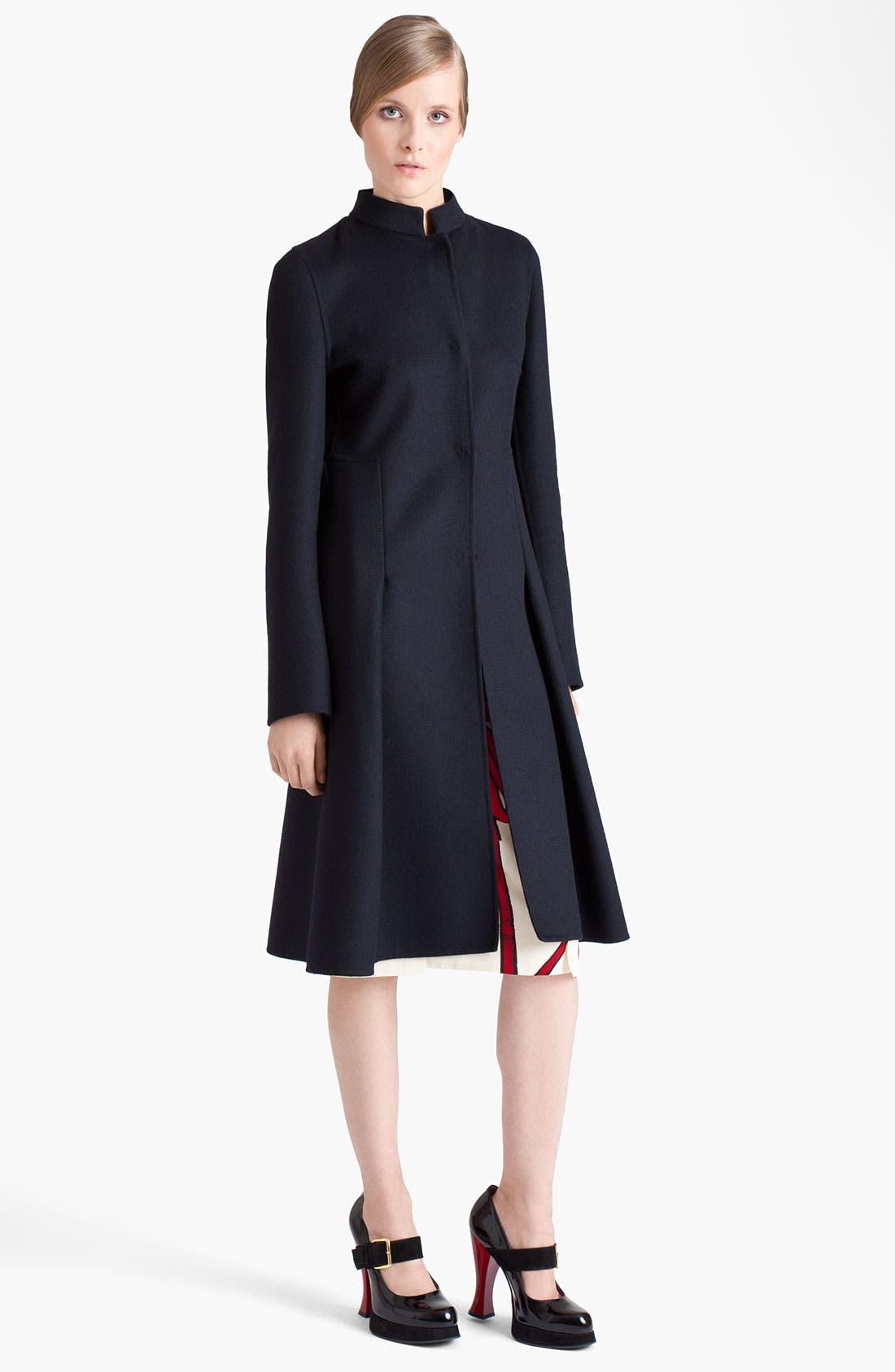 Main Image - Marni Inverted Pleat Wool Coat