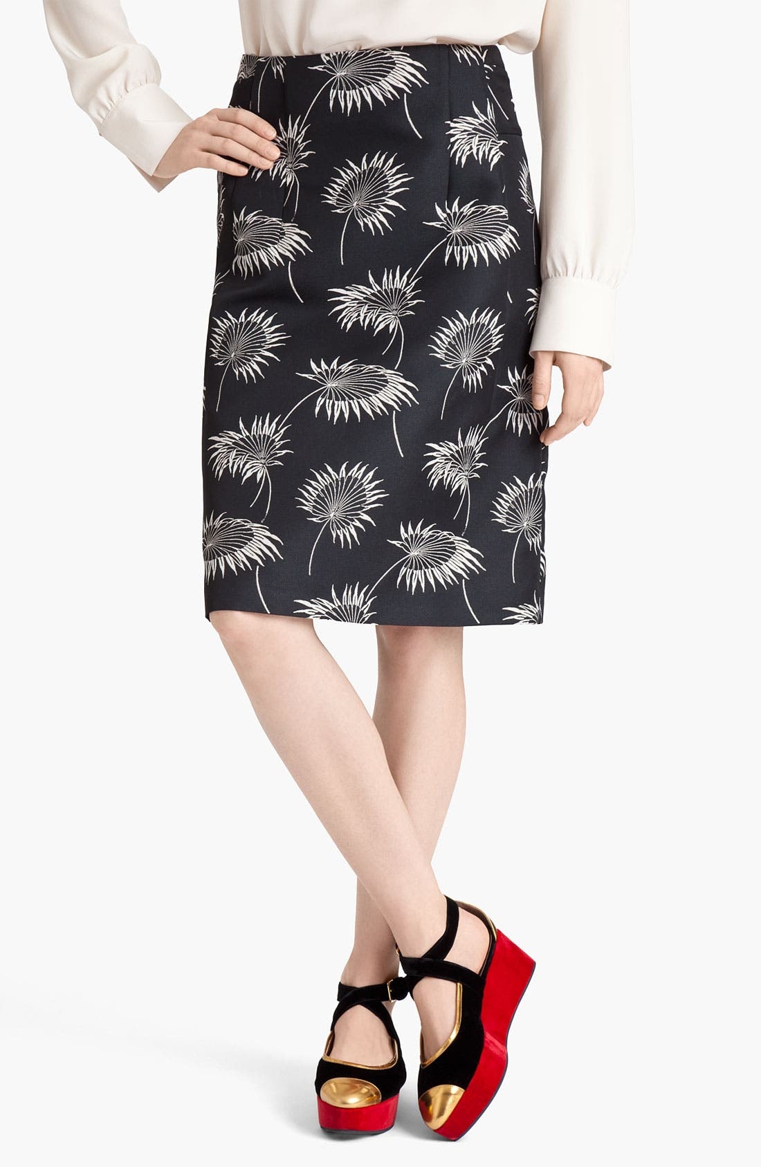 Alternate Image 1 Selected - Marni Floral Print A-Line Skirt