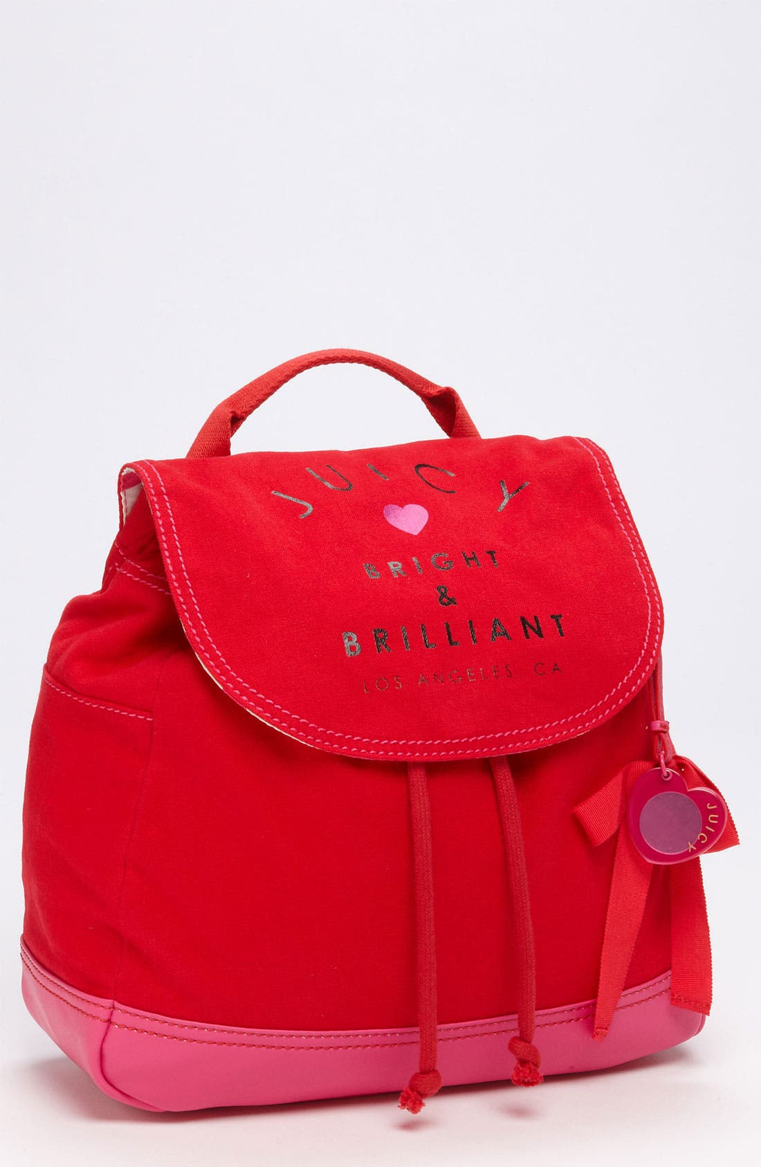 Alternate Image 1 Selected - Juicy Couture Canvas Backpack (Girls)