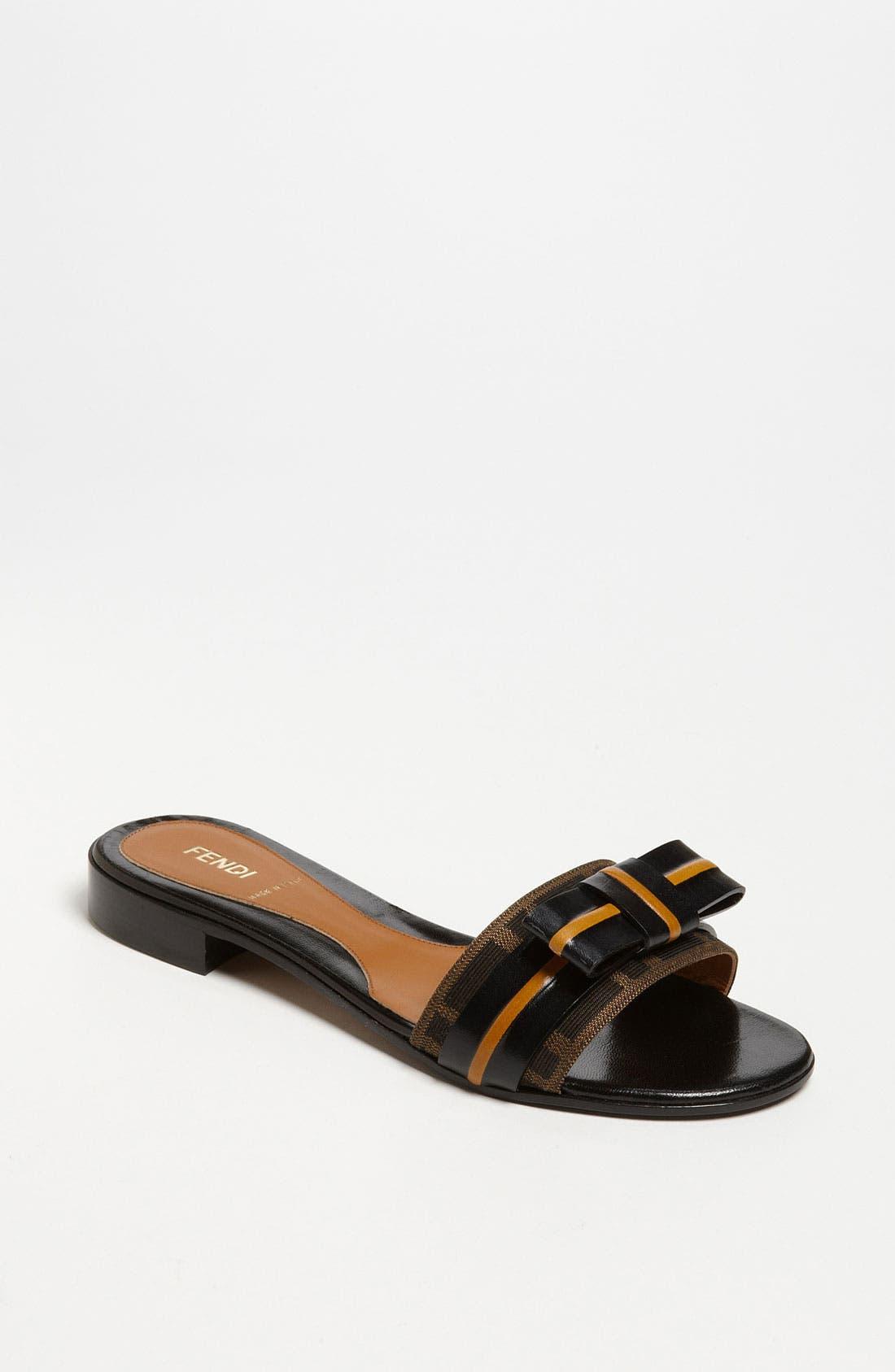 Alternate Image 1 Selected - Fendi 'Pride & Prejudice' Bow Slide Sandal