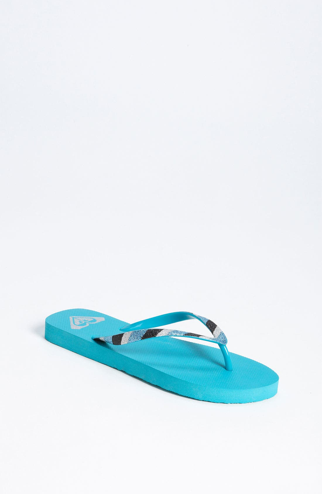 Alternate Image 1 Selected - Roxy Glitter Flip Flop (Toddler, Little Kid & Big Kid)