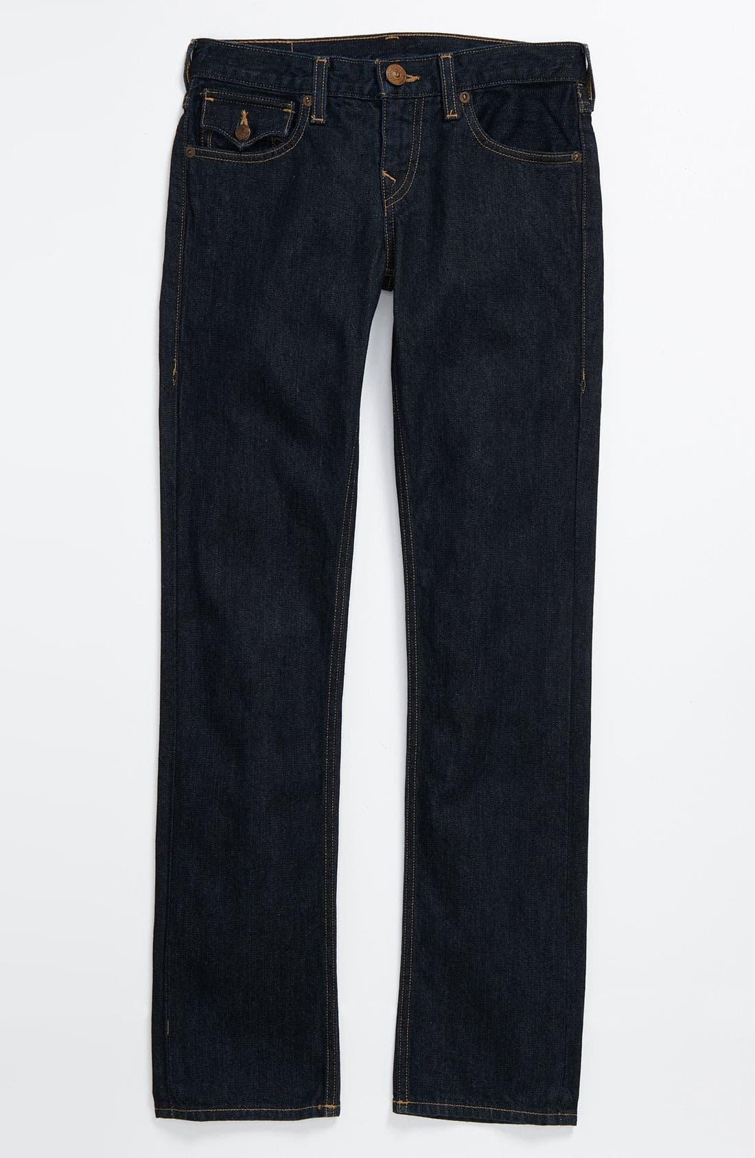 Alternate Image 2  - True Religion Brand Jeans 'Jack Snake Eyes' Straight Leg Jeans (Big Boys)