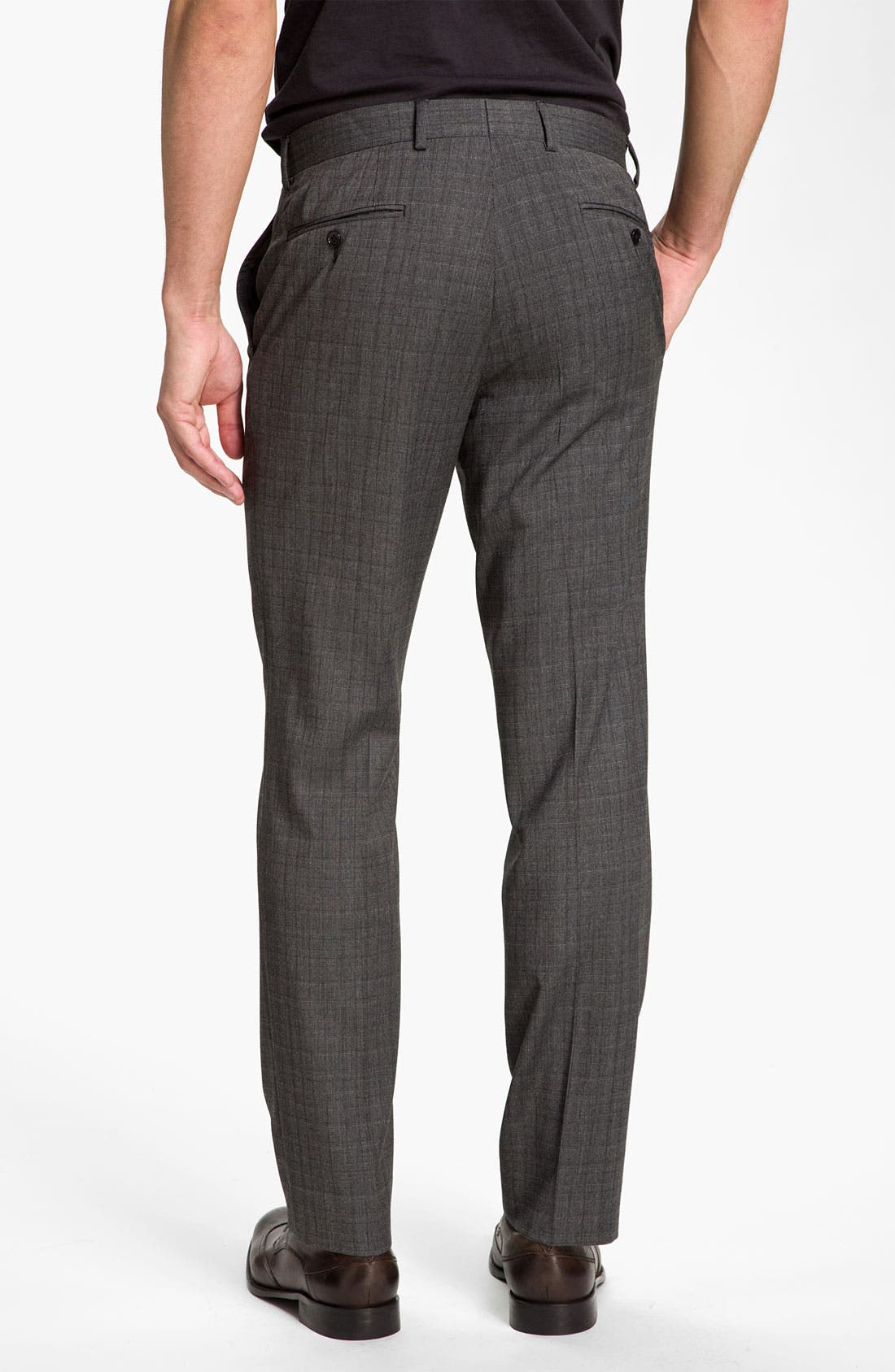 Alternate Image 2  - John Varvatos Star USA 'Petro' Plaid Flat Front Trousers