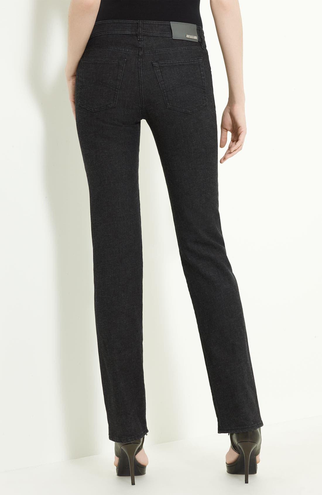 Alternate Image 2  - Armani Collezioni Cashmere Stretch Denim Jeans