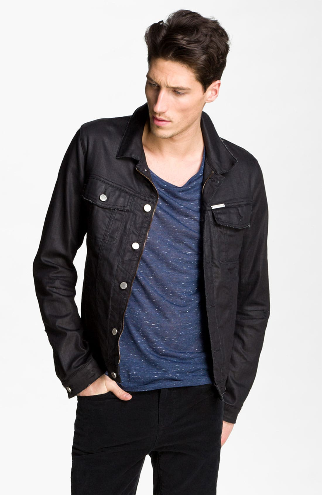 Alternate Image 1 Selected - Zadig & Voltaire Waxed Denim Jacket