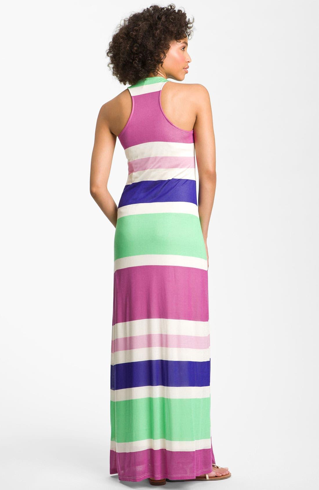 Alternate Image 2  - Splendid Racerback Stripe Maxi Dress