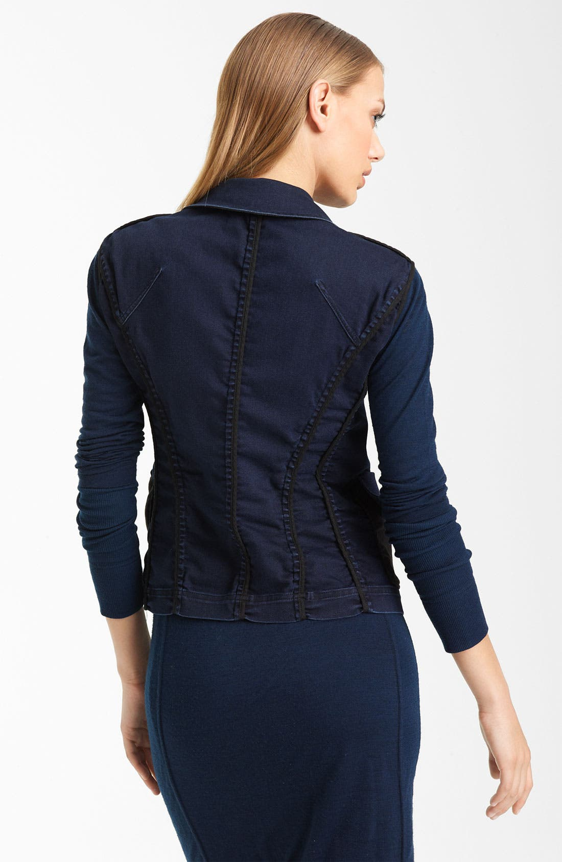 Alternate Image 2  - Donna Karan Collection Stretch Denim Vest