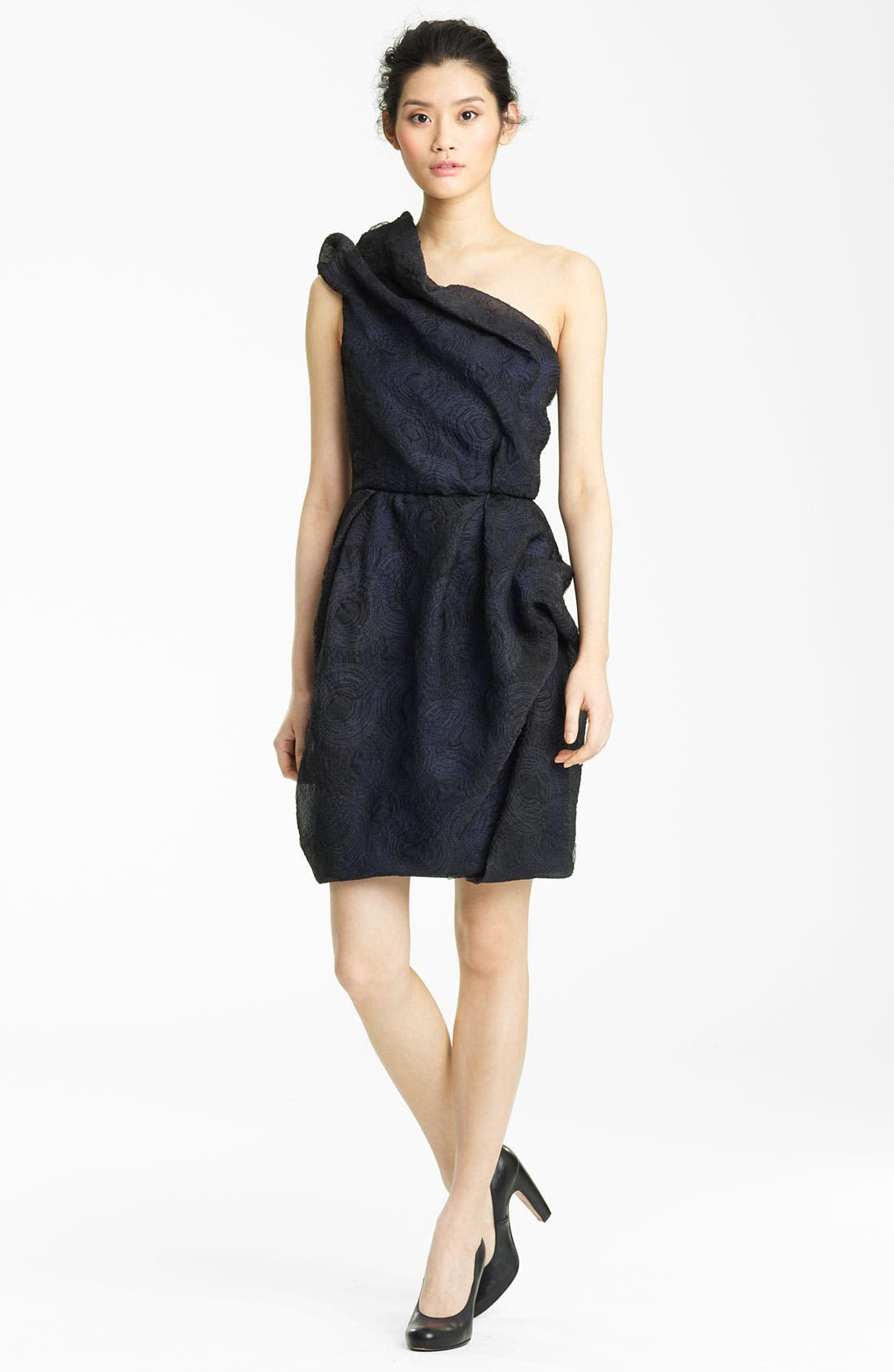 Main Image - Lida Bada Organza Jacquard One Shoulder Dress