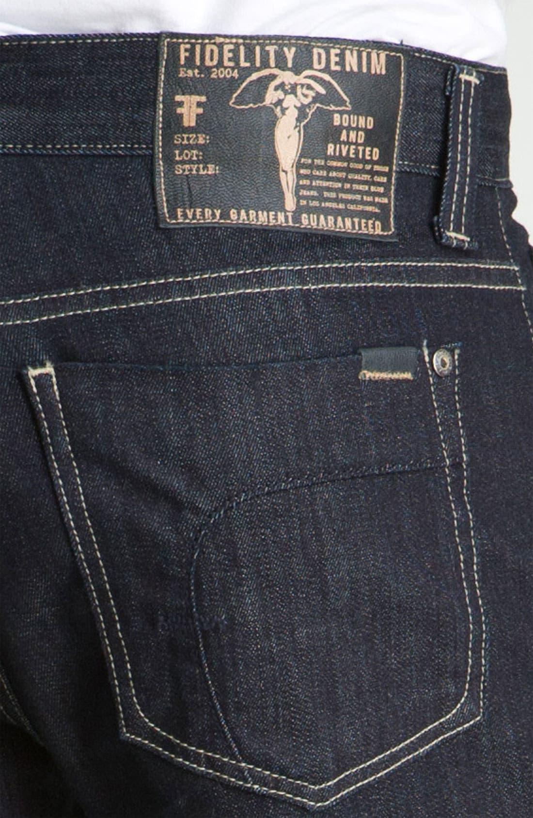 Alternate Image 4  - Fidelity Denim 'Camino' Relaxed Leg Jeans (Pacific Dark)