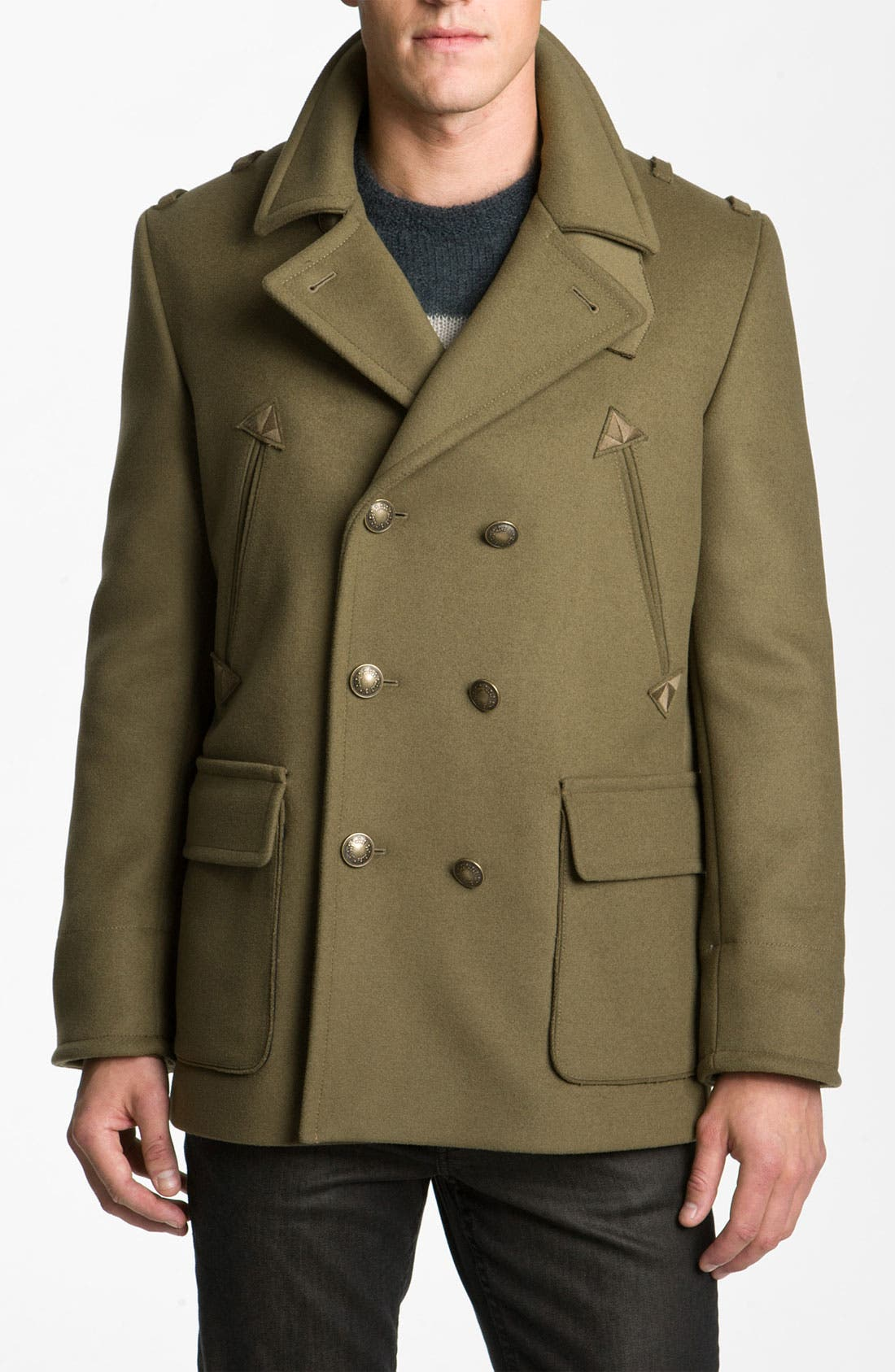 Main Image - MARC BY MARC JACOBS 'Leo' Double Breasted Peacoat