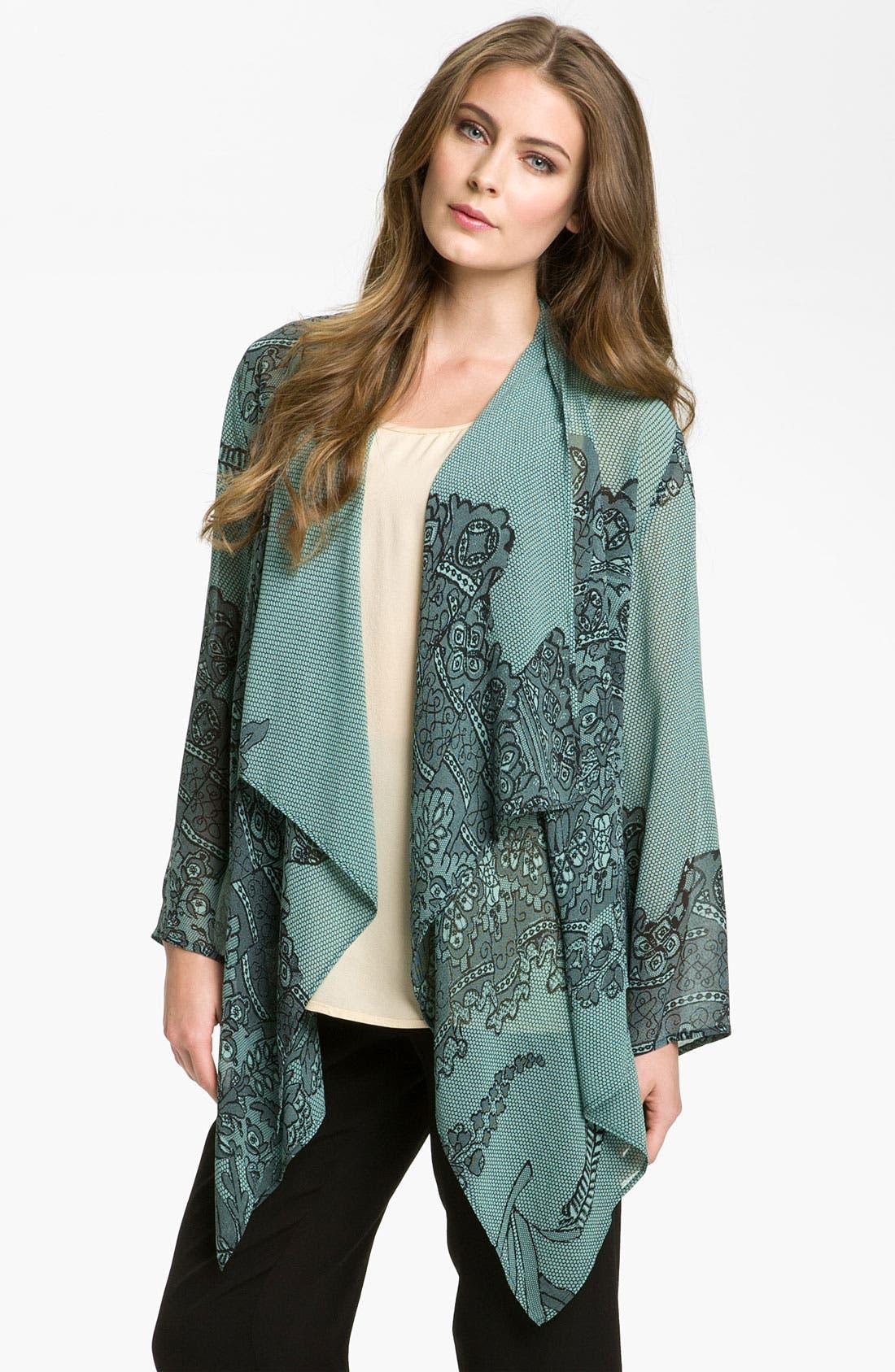 Alternate Image 1 Selected - Citron Asymmetrical Silk Tunic