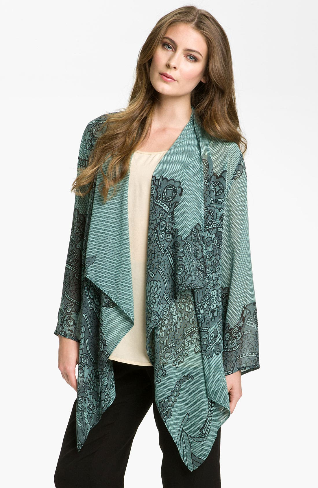 Main Image - Citron Asymmetrical Silk Tunic