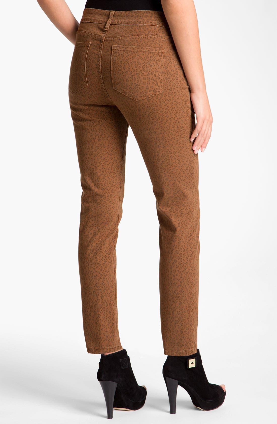 Main Image - NYDJ 'Alisha' Leopard Print Twill Ankle Jeans
