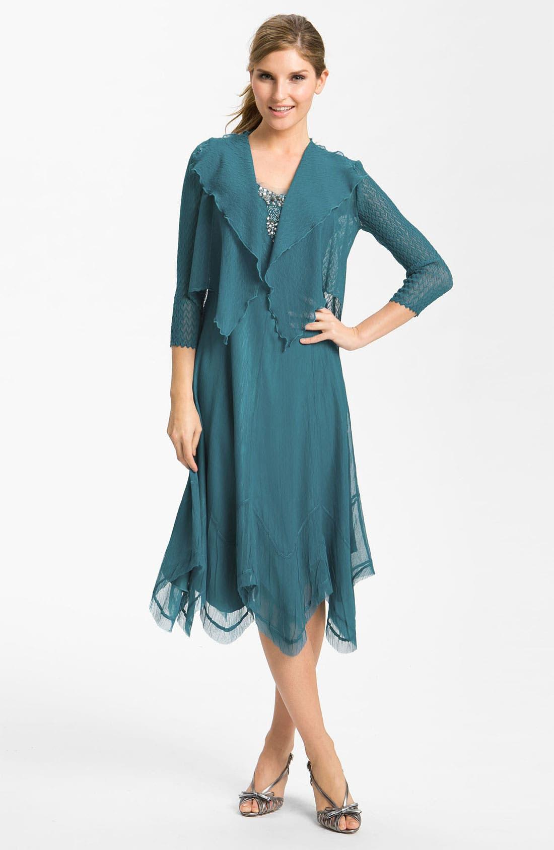 Main Image - Komarov Textured Dress & Jacket
