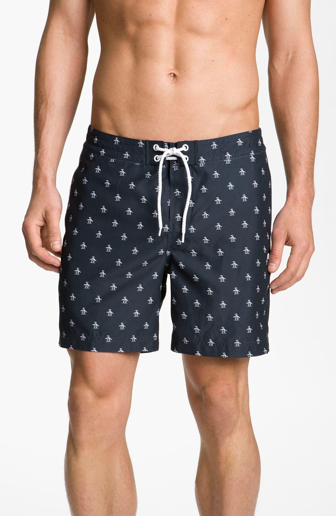 Main Image - Original Penguin Print Swim Shorts