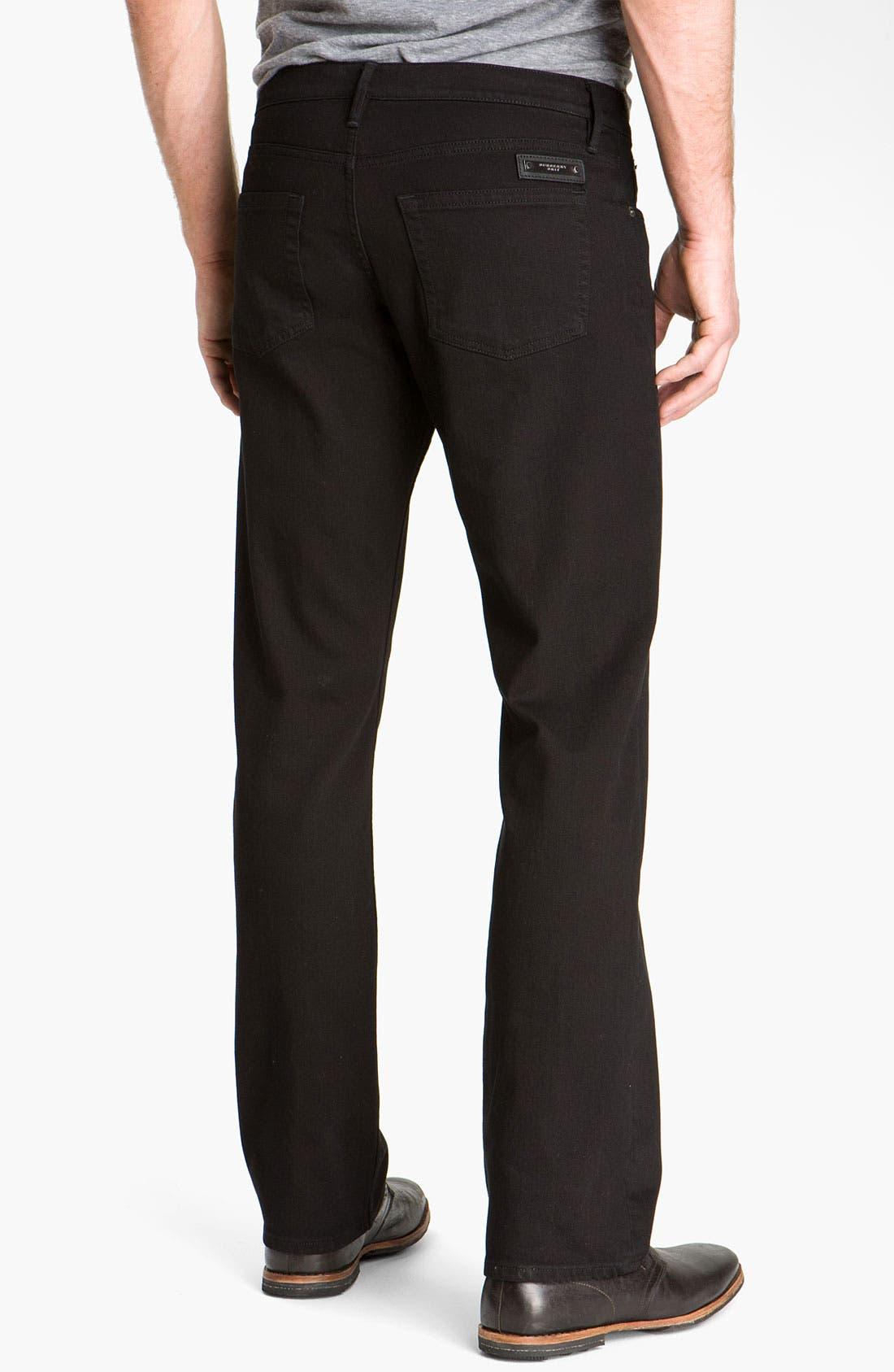 Alternate Image 2  - Burberry Brit Stretch Denim Jeans (Clean Black)