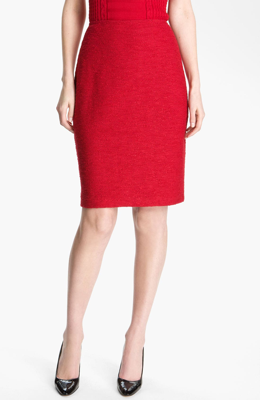 Alternate Image 2  - St. John Collection Frise Knit Pencil Skirt