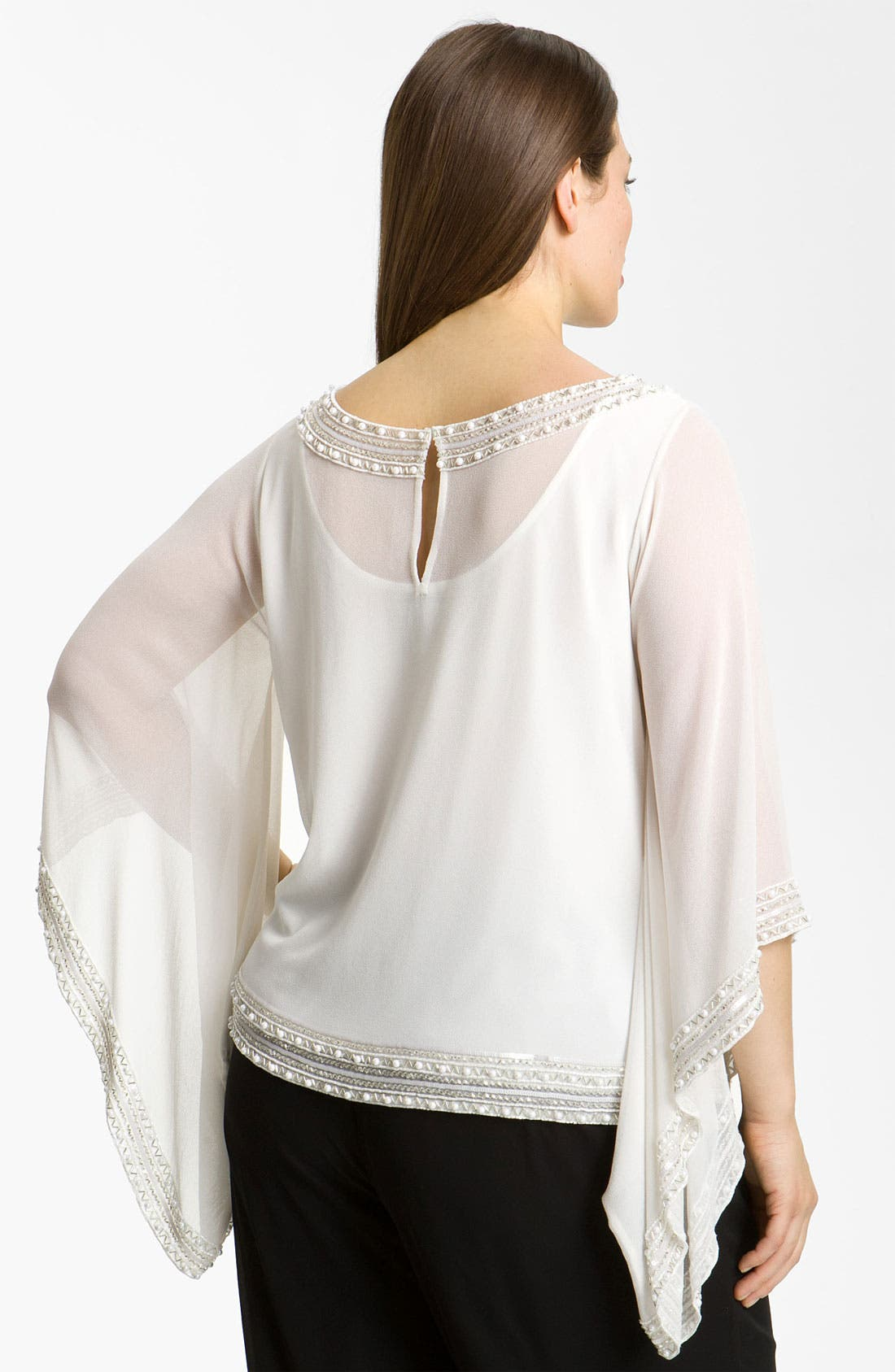 Alternate Image 2  - J Kara Beaded Top (Plus)