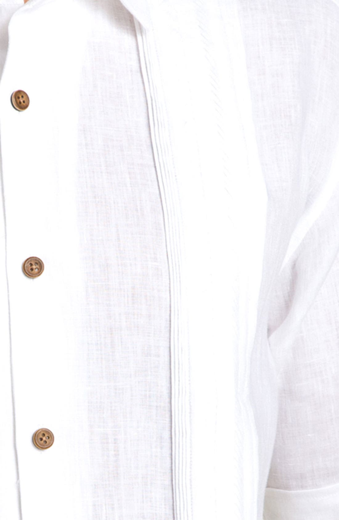 Alternate Image 3  - Tommy Bahama 'White in Line' Linen Sport Shirt