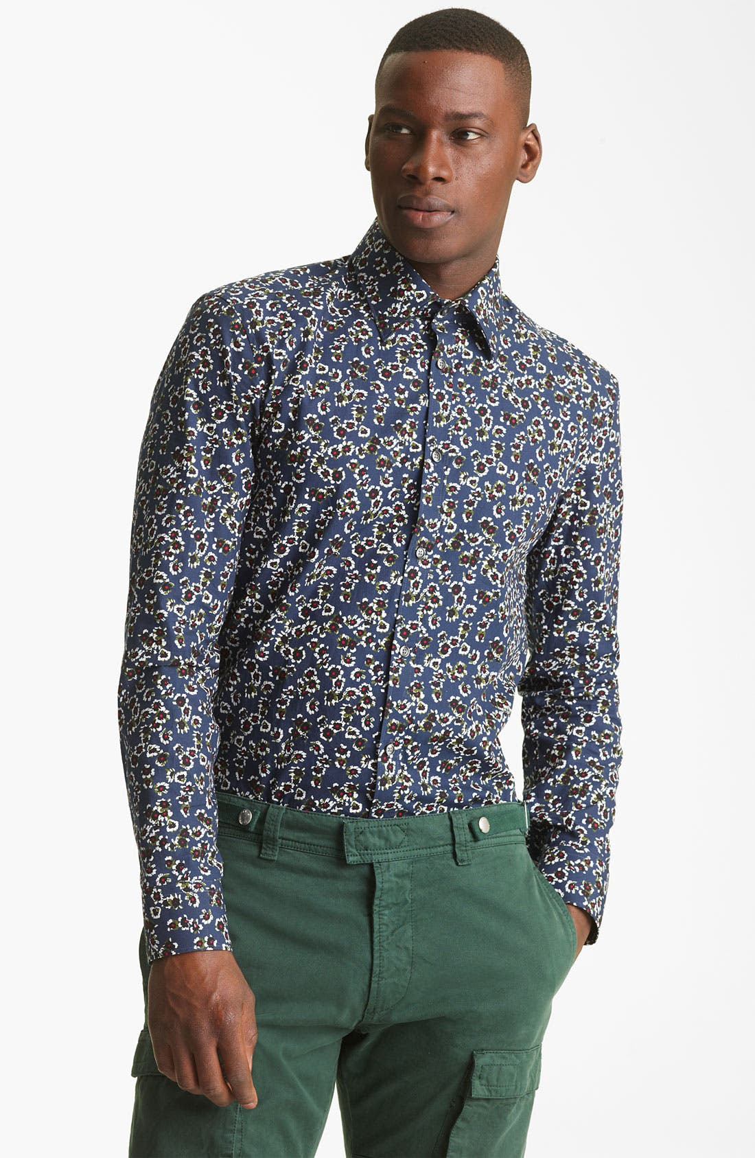 Main Image - KENZO Flower Print Dress Shirt