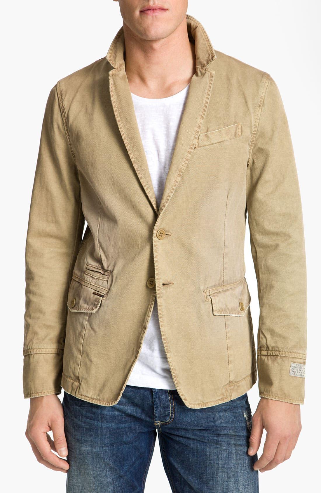 Main Image - DIESEL® 'Jelevand' Cotton Twill Blazer