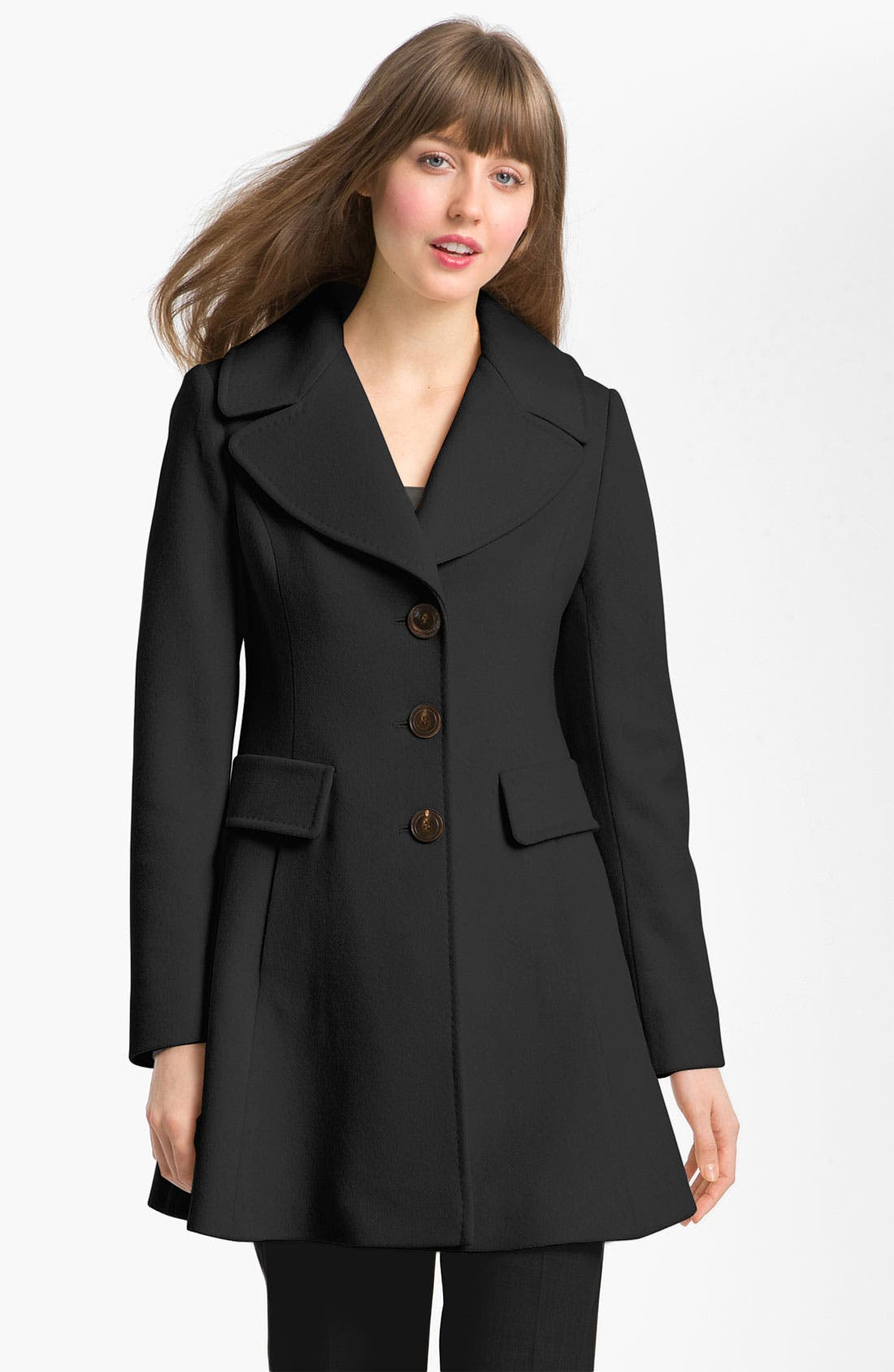 Main Image - Fleurette Single Breasted Wool Coat