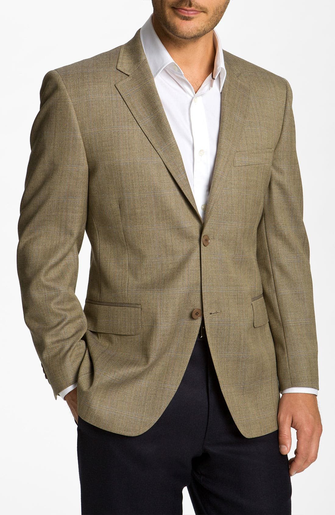 Alternate Image 1 Selected - Di Milano Uomo Plaid Sportcoat