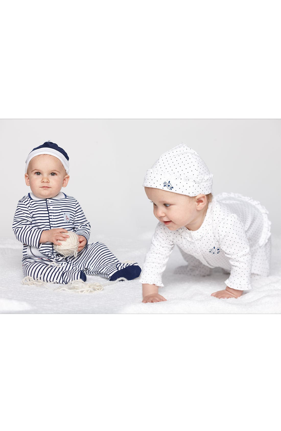 Alternate Image 2  - Little Me Footie & Hat (Baby)